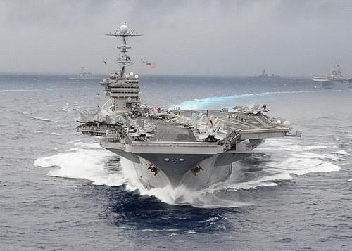Hàng Không Mẫu Hạm USS George Washington của Mỹ, bố trí thường trực ở Nhật Bản - Ảnh: Reuters