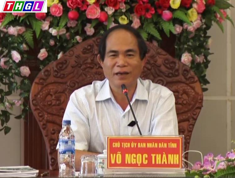Chủ tịch tỉnh Gia Lai ông Võ Ngọc Thành, người bị người dân tố cáo là đã gọi công an đến nhà, dẫn đến sự vụ công an đánh dân tàn bạo (ảnh; Truyền hình Gia Lai)