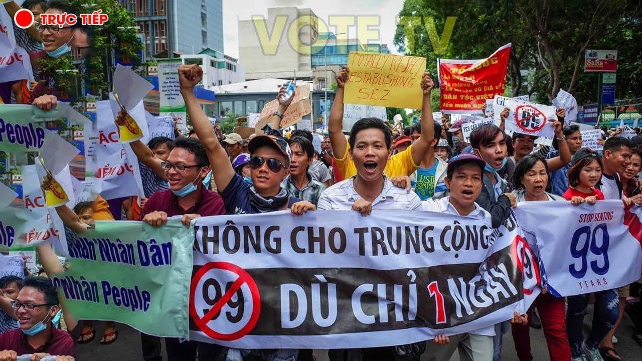 Image result for bieu tinh chong luat dac khu