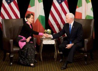 Bà Aung San Suu Kyi bác bỏ chỉ trích của PTT Mike Pence